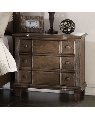 Baudouin Nightstand French Front&3 Felt Lined Drawers Weathered - tiramisubest