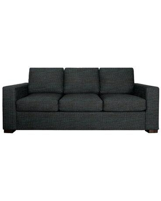 """Edgecombe Furniture Gorham 86"""" Square Arm Sofa Bed w/ Reversible Cushions Polyester/Polyester Blend in Black/Brown, Size 33.0 H x 86.0 W x 40.0 D in"""