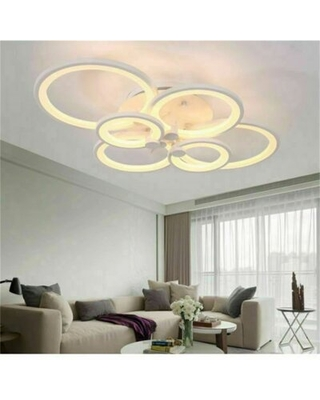 Modern 6 Heads LED Ceiling Light With Remote Control - ivy bronx