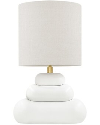 Megan Aged Brass Table Lamp - everly quinn