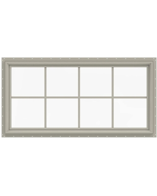 JELD-WEN V-2500 48-in x 24-in x 2.9063-in Jamb Between The Glass Rectangle New Construction Desert Sand Window ENERGY STAR Northern Zone ENERGY STAR