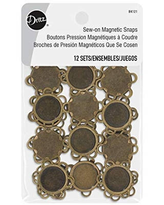 Sew on Magnetic Snaps Flower Shape Fasteners 3 12 Sets - dritz
