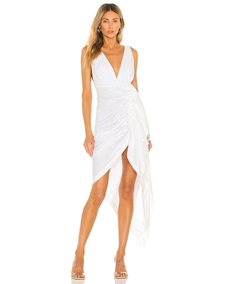 Just BEE Queen Tulum Dress in White. - size M (also in S, XS)