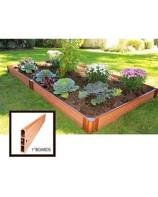5 1 Classic Sienna Composite Raised Bed with Boards - undefined