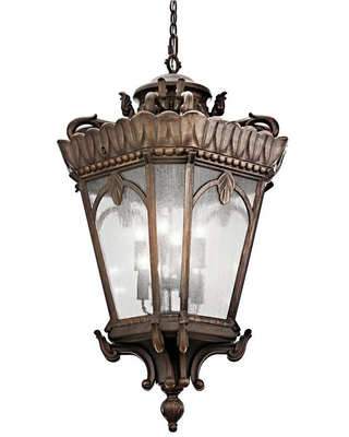 Tournai Londonderry Traditional Seeded Glass Lantern Large Larger Than 22 in Pendant Light 9568LD - kichler