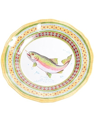 Galleyware Trout Melamine Non Skid Dinner Plate - galleyware company