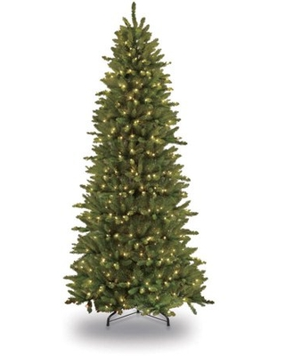 5 ft Pre Lit Slim Fraser Fir Artificial Christmas Tree with 500 Clear UL listed Lights - puleo international