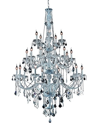7825G43C RC Verona Collection 25 Light 43 Chandelier with Clear Royal Cut Crystal - elegant lighting
