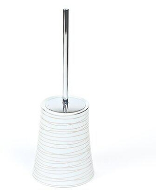 Gedy by Nameeks Diva 14.4in. H Free Standing Toilet Brush & Holder Metal, Size 14.4 H x 5.51 W x 5.5 D in | Wayfair 3933-73