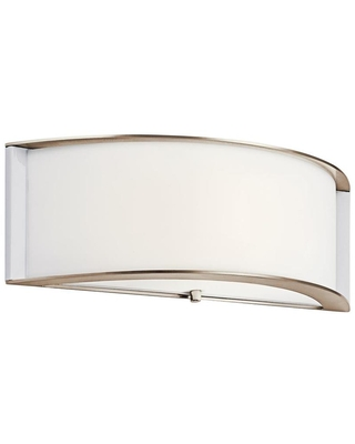 15 in W 1 Light Polished Nickel Modern Contemporary Wall Sconce ENERGY STAR 10630PNLED - kichler