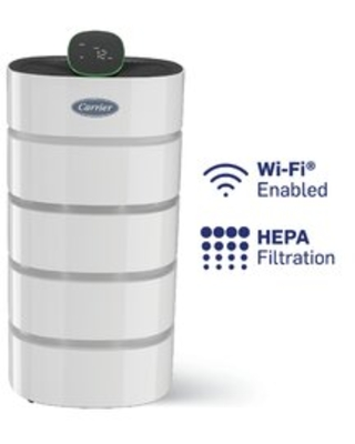 Smart Air Purifier Includes HEPA Filter and Air Quality Sensor with 18 Fan Speeds - carrier