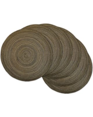 Variegated Lurex Round Woven Placemat - design imports