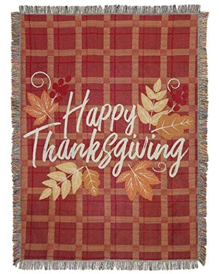 """Thanksgiving """" Woven Tapestry Throw Blanket Multi Color - northwest"""