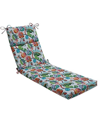 Outdoor Indoor Tropical Fete Mult Chaise Lounge Cushion - pillow perfect