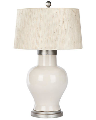 Cleo Table Lamp Taupe Ivory - barclay butera for bradburn home
