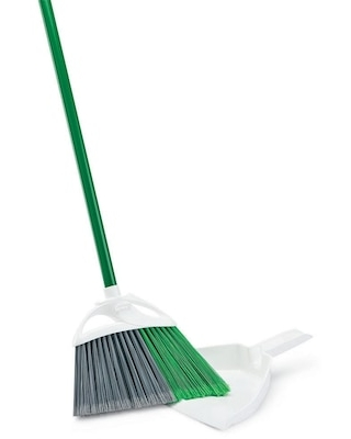 Precision Angle Broom with Dust Pan Set 4 Sets Carton 206 Quill - libman