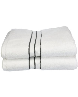 Turkish Cotton Plush 2 Piece Solid Highly Absorbent Chocolate by Superior - impressions
