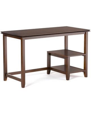 50 in Rectangular Russet Computer Desk with Solid Wood Material - brooklyn + max