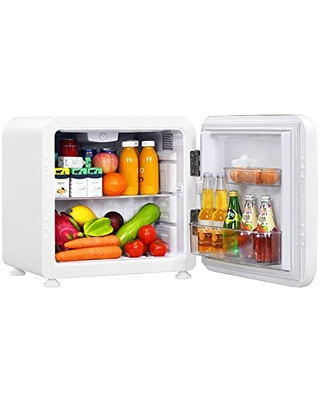 Compact Refrigerator 6 cu ft Mini Fridge with Adjustable Temperature 32 to 50 Auto Defrost Reversible Door Removable Glass Shelves Small Fridge for Dorm Garage Camper Basement or Office - ldaily