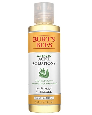 Natural Acne Solutions Purifying Gel Cleanser Salicylic Acid and Cica - burt's bees