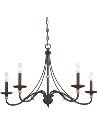 Westchester County 5 Light Sand Coal with Skyline Traditional Chandelier 1044 677 - minka lavery