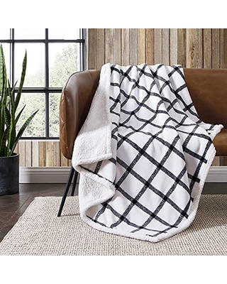 Home Ultra Plush Collection Throw Blanket Reversible Sherpa Fleece Cover Soft & Cozy Perfect for Bed or Couch - eddie bauer