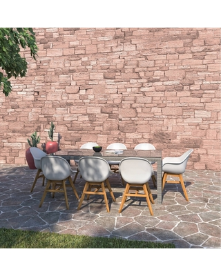 Rochford 9pc Wicker Patio Dining Set with Rectangular Table - amazonia