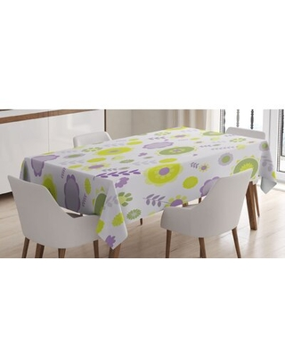 Funky Flowers Nature Essence Beauty Blossoms Spring Image Tablecloth - east urban home
