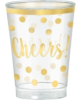 Amscan New Years Tumbler, Gold/Clear, 30/Set, 2/Pack (350260)   Quill