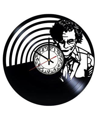 Joker Handmade Vinyl Record Wall Clock Get unique room wall decor Gift ideas for his and her - Modern Unique Home Art Design - girls art boutique