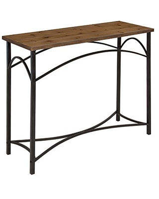 Strand Console Table Rustic Wood Top with Iron Legs - kate and laurel