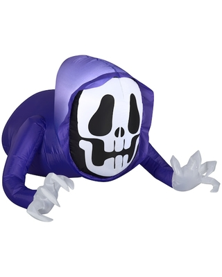 4Ft Airblown(r) Inflatable Halloween Reaper Monster with Reaching Arms By Michaels(r) - gemmy industries