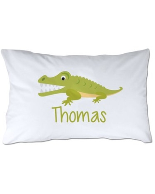 Personalized Alligator Pillow Case - 4 wooden shoes