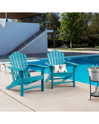 2 Piece Chair Patio Chairs Lawn Chair Outdoor Chairs Painted Adirondack Chairs Weather Resistant for Patio Deck Garden Backyard Deck Fire Pit & Lawn Furniture Porch & Lawn Seating - unbraned