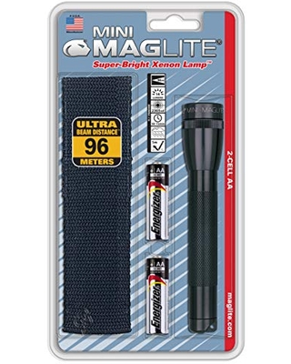 Mini Incandescent 2 Cell AA Flashlight with Holster - maglite