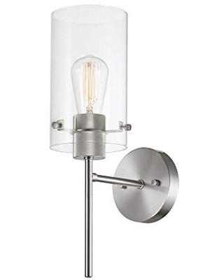 Cusco 1 Light Wall Sconce Clear Glass Shade 51361 - globe electric