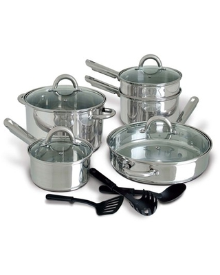 Abruzzo Stainless Steel 12 Piece Cookware Set - gibson home