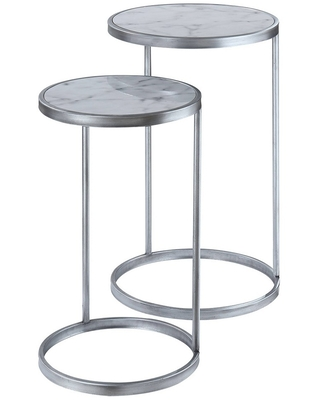 Coast Faux Marble Nesting End Tables - breighton home
