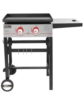 2 Burner Flat Top Propane Gas Grill with Side Table - royal gourmet