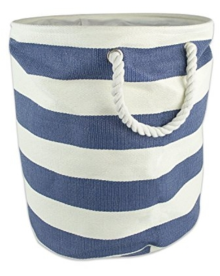 Woven Paper Collapsible Laundry Hamper Storage Basket Round - dii