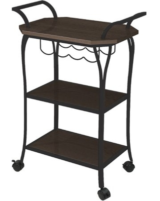 Mixed Material Kitchen Cart with Wine Rack - better homes & gardens