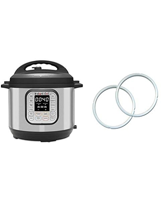Duo 7 in 1 Electric Pressure Cooker 14 One Touch Programs & Genuine Sealing Ring Clear - instant pot