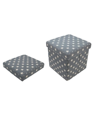 ecorative and Star Collapsible Sqaure Storage Ottoman - northlight