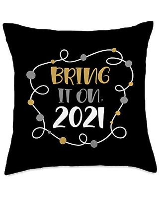 BW 2021 New Year Gifts Bring it On 2021 Cute New Years Throw Pillow, 18x18, Multicolor