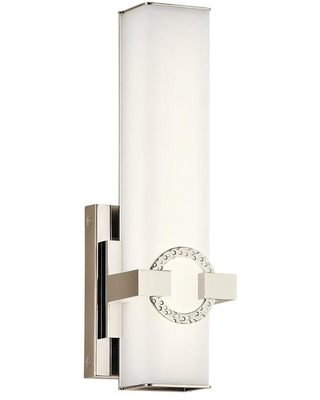 Bordeaux 5 in W 1 Light Polished Nickel Modern Contemporary Wall Sconce 45876PNLED - kichler