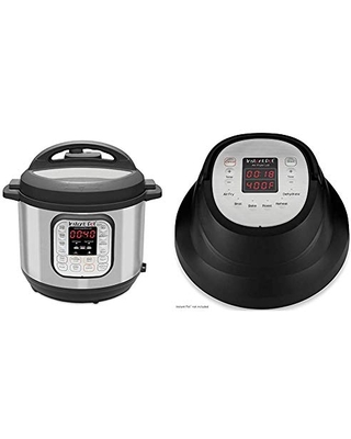 Duo 7 in 1 Electric Pressure Cooker Slow Cooker Saute Yogurt Maker 14 One Touch Programs & Air Fryer Lid 6 in 1 Turn your into an Air Fryer 1500W - instant pot