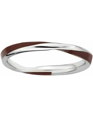 Sterling Twisted Enameled Ring - jewelrypot