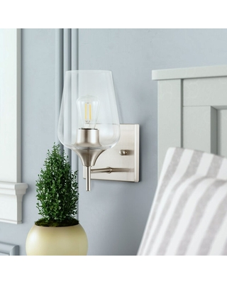 1 Light Wall Sconce Light with Glass Shade - co-z