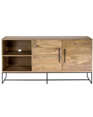 Colvin Collection SR 1029 24 Entertainment Unit with Iron Base in Natural - moes home collection