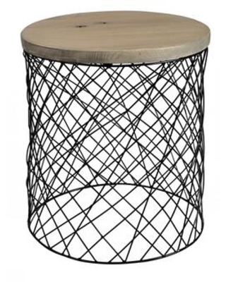 Celeste Collection VE 1055 15 Side Table with Powder Coated Iron Base - moes home collection